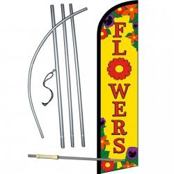 Flowers Yellow Windless Swooper Flag Bundle