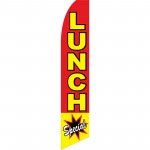 Lunch Special Red Burst Swooper Flag