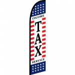 Income Tax Service Stars & Stripes Windless Swooper Flag