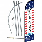Income Tax E-File Fast Refund Windless Swooper Flag Bundle