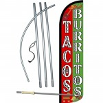 Tacos Burritos White Letters Windless Swooper Flag Bundle