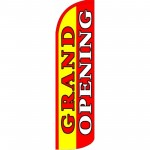 Grand Opening Yellow Extra Wide Windless Swooper Flag