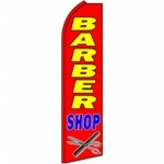 Barber Shop Red Extra Wide Swooper Flag