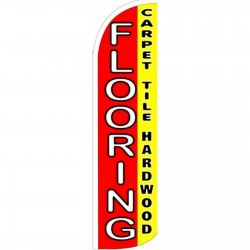 Flooring White Sleeve Extra Wide Windless Swooper Flag
