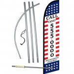 Income Tax Custom Phone Number Windless Swooper Flag Bundle