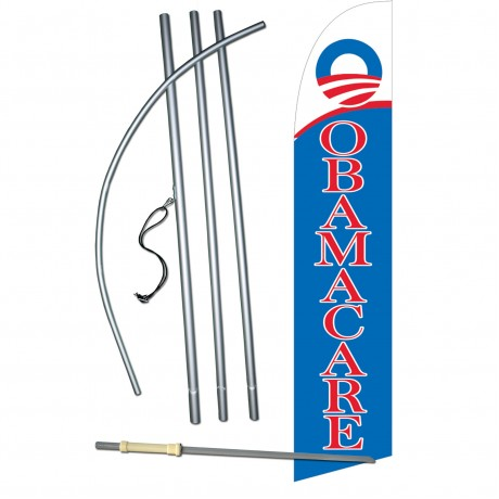 Obamacare Windless Swooper Flag Bundle