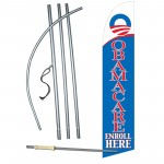 Obamacare Enroll Here Windless Swooper Flag Bundle