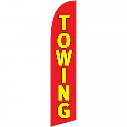 Towing Red Windless Swooper Flag