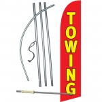 Towing Red Windless Swooper Flag Bundle