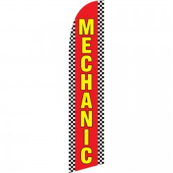 Mechanic Red Windless Swooper Flag