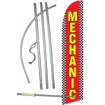 Mechanic Red Windless Swooper Flag Bundle