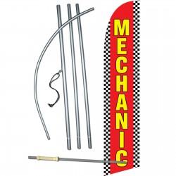 Mechanic Red Windless Swooper Flag Bundle