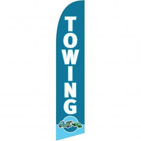 Towing Blue Windless Swooper Flag