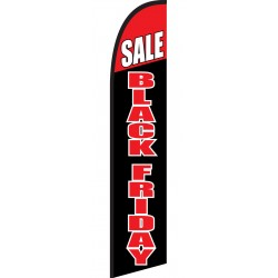 Black Friday Sale Black Red Windless Swooper Flag