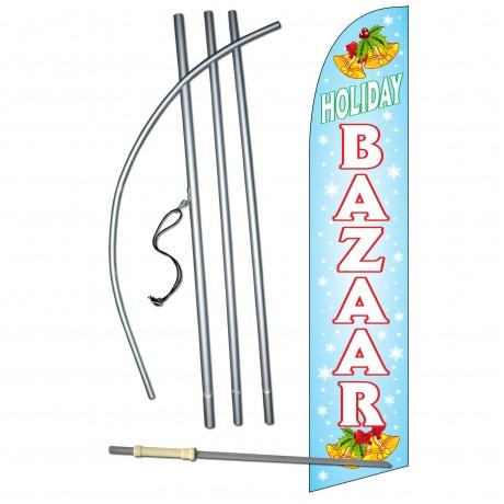 Holiday Bazaar Windless Swooper Flag Bundle