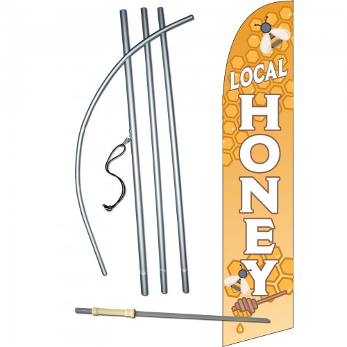 Local Honey Windless Swooper Flag Bundle Sw80164 4dlx Sgs By Www Neoplexonline Com
