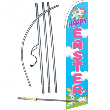 Happy Easter Windless Swooper Flag Bundle