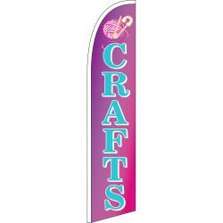 Crafts Purple Windless Swooper Flag