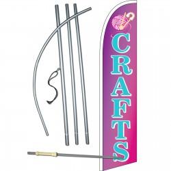 Crafts Purple Windless Swooper Flag Bundle