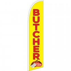 Butcher Yellow Windless Swooper Flag