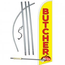 Butcher Yellow Windless Swooper Flag Bundle