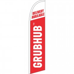Grub Hub Delivery Available Windless Swooper Flag
