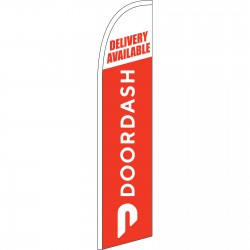 Door Dash Delivery Available Windless Swooper Flag