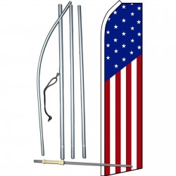 USA American Swooper Flag Bundle