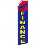 Easy Finance Blue Red Swooper Flag