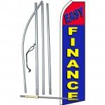 Easy Finance Blue Red Swooper Flag Bundle