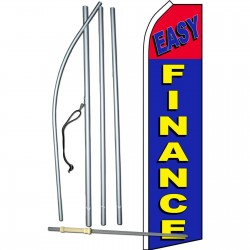 Easy Finance Blue Red Swooper Flag Bundle