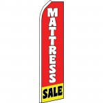 Mattress Sale Red Yellow Swooper Flag