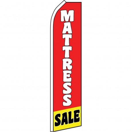Mattress Sale Red Yellow Swooper Flag