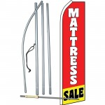 Mattress Sale Red Yellow Swooper Flag Bundle