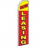 Now Leasing Red Yellow Shadow Swooper Flag