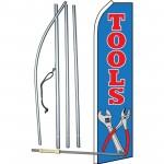 Tools Blue Swooper Flag Bundle