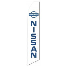 Nissan White Swooper Flag