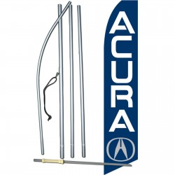 Acura Blue Swooper Flag Bundle