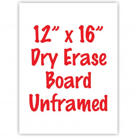 "12"" x 16"" Unframed Dry Erase Whiteboard"