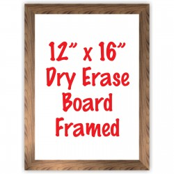 "12"" x 16"" Framed Dry Erase Whiteboard"