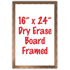 "16"" x 24"" Framed Dry Erase Whiteboard"