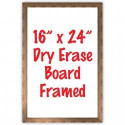 """16"""" x 24"""" Framed Dry Erase Whiteboard"""