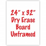 "24"" x 32"" Unframed Dry Erase Whiteboard"