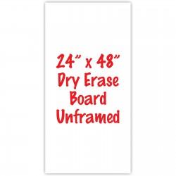 "24"" x 48"" Unframed Dry Erase Whiteboard"