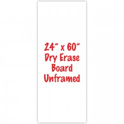 "24"" x 60"" Unframed Dry Erase Whiteboard"