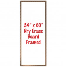 "24"" x 60"" Framed Dry Erase Whiteboard"