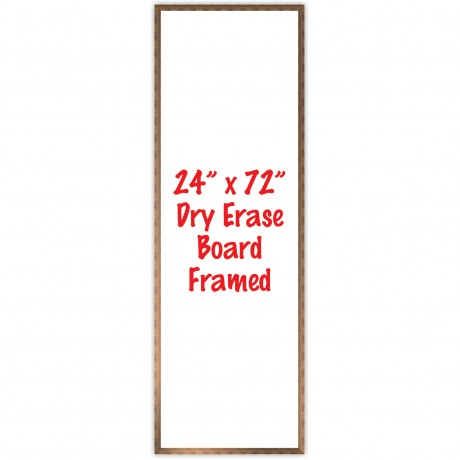 "24"" x 72"" Framed Dry Erase Whiteboard"