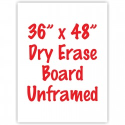 "36"" x 48"" Unframed Dry Erase Whiteboard"