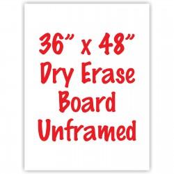 "36"" x 48"" Unframed Dry Erase Whiteboard"