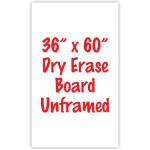 "36"" x 60"" Unframed Dry Erase Whiteboard"